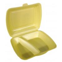 Boîte repas Papstar, en polystyrène expansé, 2compartiments, dorée – 100pièces