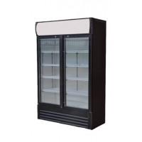 Getränkekühlschrank ECO 630 mit Leuchtaufsatz und Klapptüren | Kühltechnik/Kühlschränke/Getränkekühlschränke