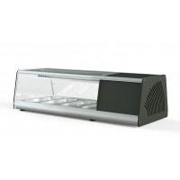 Sushi Vitrine PROFI 4x1/3GN - eckiges Glas | Kühltechnik/Sushi & Tapas Vitrinen