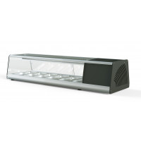 Sushi Vitrine PROFI 6x1/3GN - eckiges Glas | Kühltechnik/Sushi & Tapas Vitrinen
