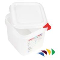Araven Farbkodierte Lebensmittelbehälter GN 1/6, 15 cm   Lager & Transport/Lebensmittelaufbewahrung/Vorratsbehälter/Lebensmittelbehälter