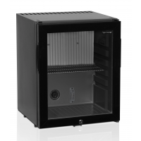 Minibarkühlschrank 42 schwarz mit Glastür