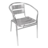 4chaises en aluminium Bolero empilables