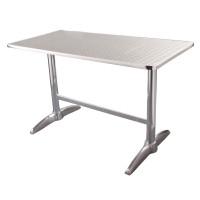 Table en inox rectangulaire Bolero 120 x 60