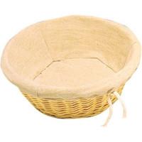 Corbeille à pain Olympia avec revêtement en coton Ø 25cm.