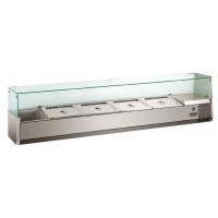 Kühlaufsatz ECO 5x GN 1/3 + 1x GN 1/2 mit Glasaufsatz