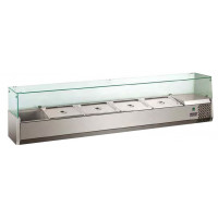 Présentoir réfrigéré ECO 8x GN 1/4 avec vitre 1 800 mm