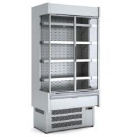 Wandkühlregal Profi 2400 Edelstahl mit Glastüren | Kühltechnik/Wandkühlregale
