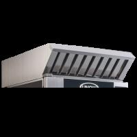 Dunstabzugshaube mit integriertem Dampfkondensator für Kombidämpfer