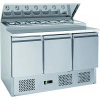 Station de garniture ECO 1365 avec présentoir réfrigéré pour 7 bacs x 1/3 GN