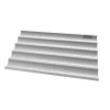 UNOX plaque de cuisson pour Baguette en aluminium